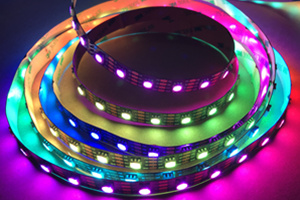 60PCS HD107S RGB Full Color LED Strip DC5V PMW 27KHz
